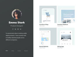 UXfolio home page template example